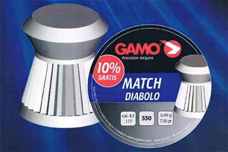 Gamo Match Diablo 4,5/177 gr 0,49 - 550pz