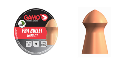 Gamo PBA Bullet Impact  4,5/177 gr 0,45 - 125 pz