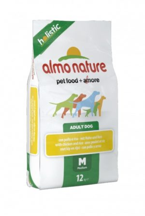 Almo Nature Holistic Medium Pollo e Riso kg 12